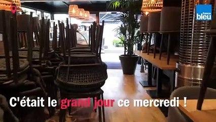 Réouverture des terrasses à Caen