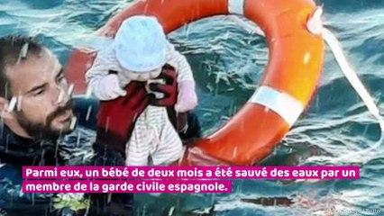 Migrants de Ceuta : l'incroyable cliché d'un bébé sauvé par un plongeur en Méditerranée
