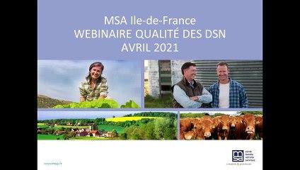 Webinaire Qualité des DSN du 2 avril 2021