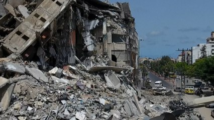 Proche-Orient : à Gaza, des bâtiments détruits à perte de vue