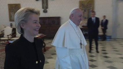 Ursula von der Leyen meets His Holiness Pope Francis at the Vatican