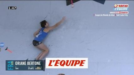 Bertone sur le podium à Salt Lake City - Escalade - CM (F)