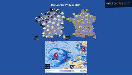 bulletin meteo du dimanche 23 mai 2021