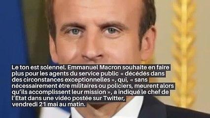 «Mort pour le service de la République»: le nouveau statut qu'Emmanuel Macron veut créer_IN