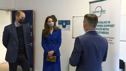 William and Kate visit social charity