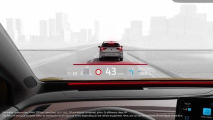 Nuevo Volkswagen ID.4 Head-up Display con realidad aumentada