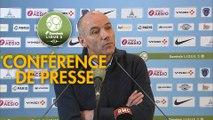 Conférence de presse Paris FC - Havre AC (1-0) : René GIRARD (PFC) - Paul LE GUEN (HAC) - 2019/2020
