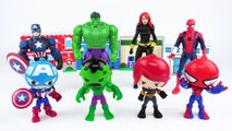 Learn Colors With Animal - Learn Colors with Marvel Spider-man and Avengers Toys and Kinetic Sand - Mix and Match Wrong Heads!