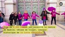 Des féministes prennent d'assaut le centre de Madrid