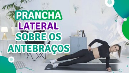 Prancha lateral sobre os antebraços - Sou Fitness