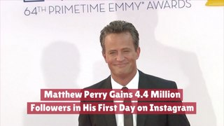 Matthew Perry Is Insta Famous