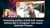 Polarizing politics of BJP, AAP reason behind dip in Congress' vote share: Subhash Chopra