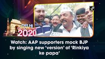 Watch: AAP supporters mock BJP by singing new 'version' of 'Rinkiya ke papa'