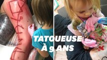 Cette petite fille de 9 ans est la plus jeune tatoueuse du monde