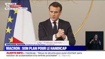 """Emmanuel Macron annonce l'intégration d'un """"module handicap"""" dans la formation des professeurs dès la rentrée prochaine"""