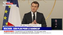 """Handicap: Emmanuel Macron souhaite qu'il n'y ait plus aucun """"départ contraint vers l'étranger"""" d'ici 2021"""