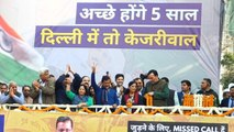 Kejriwal addresses AAP workers as party all set to win Assembly polls