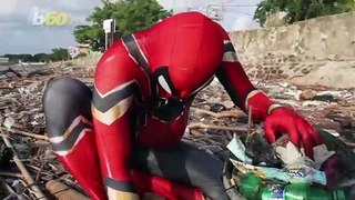 Cleaning up the Streets! Indonesian Man Picks up Trash in Spider-Man Suit to Highlight Waste Problem