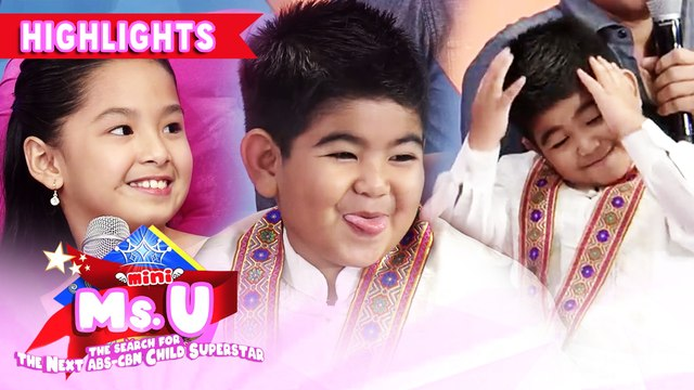 Yorme gets stunned by Krisha's cuteness | It's Showtime Mini Miss U
