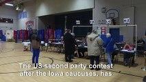 Voting starts in New Hampshire Democratic primary