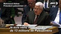 Mahmoud Abbas rejette le plan israélo-américain au Conseil de sécurité de l'ONU