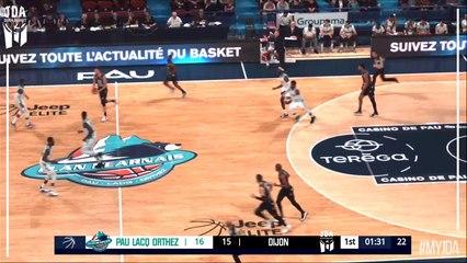 David Holston Points in Pau Lacq Orthez vs. Dijon