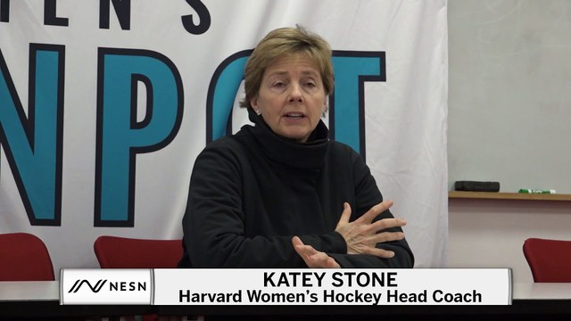 Katey Stone Reacts To Harvard's Beanpot Loss Against Boston College