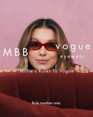 الحملة الدعائية لنظارات ميلي بوبي براون مع Vogue Eyeweae