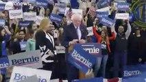 Bernie Sanders, dopé par sa victoire à la primaire démocrate, se voit déjà face à Trump