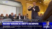 Ce qu'a dit Emmanuel Macron aux députés de la majorité pour apaiser les tensions