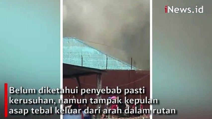 Video Amatir Kerusuhan di Rutan Kelas II B Kabanjahe, Asap Tebal Tampak Mengepul