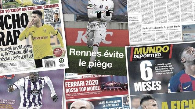 Le Borussia Dortmund fixe le prix de Jadon Sancho, l'ultimatum de la Juventus à Maurizio Sarri