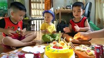 Happy Birthday to Baby at home with surprise gift cake from Anto and brother - Birthday song by Anto