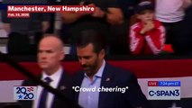 Donald Trump Jr. Greeted With Chants Of 'Forty-Six' At New Hampshire Campaign Rally
