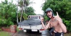 Surfer sur un terrain de Golf inondé !