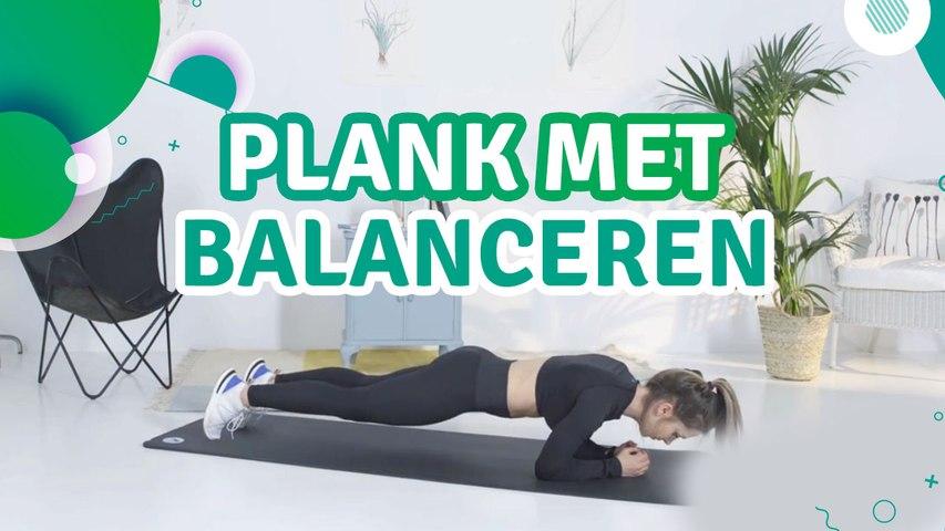 Plank met balanceren - Ik Ben Fit