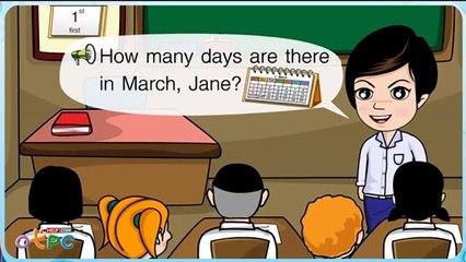 สื่อการเรียนการสอน How many days ป.2 ภาษาอังกฤษ