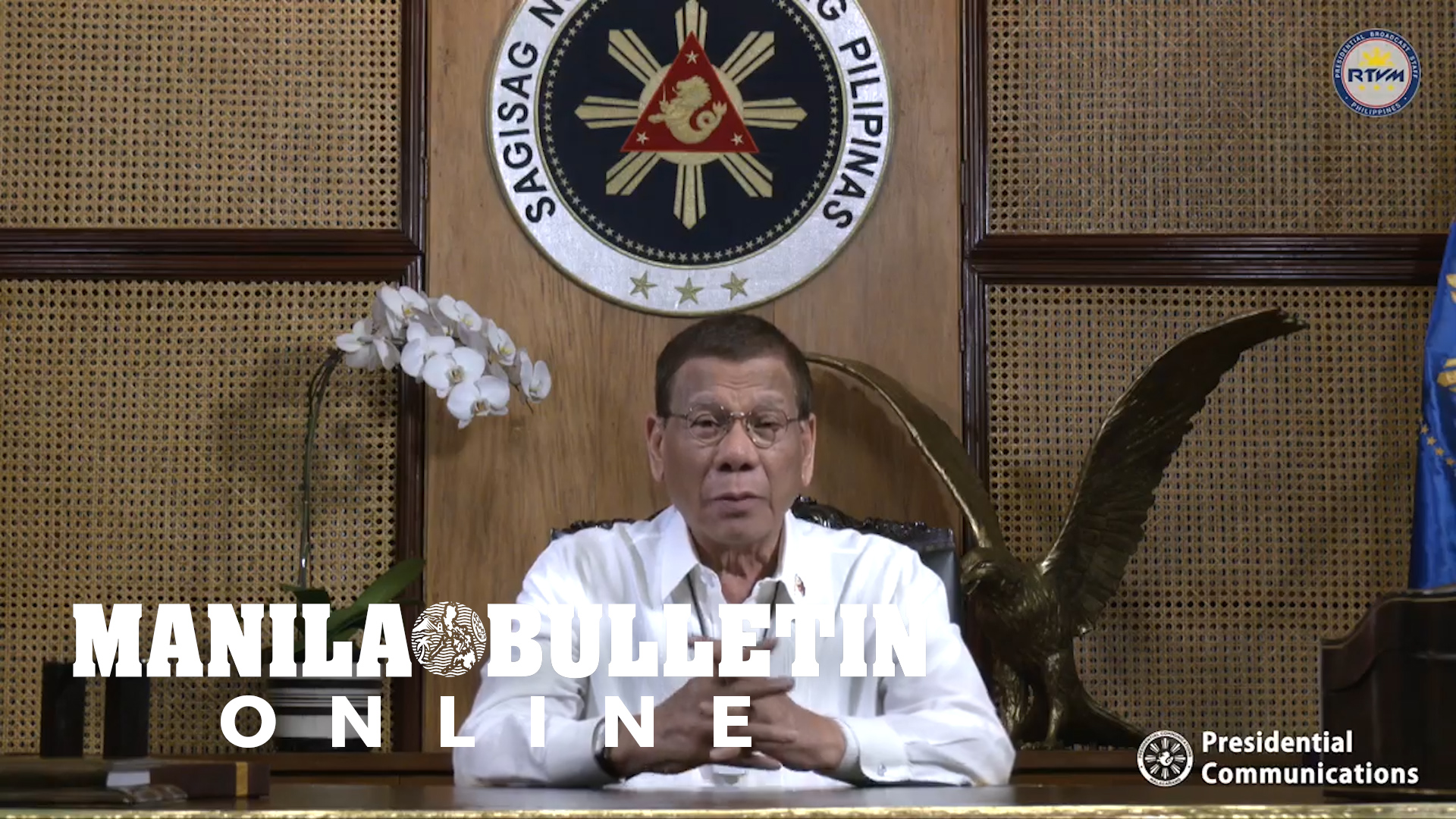 President Duterte reminds Filipino to stay vigilant amid the threat of COVID-19