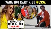 Sara Ali Khan GETS ANGRY On Kartik Aaryan For Sitting On Roof | Love Aaj Kal Promotions