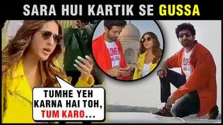 Sara Ali Khan GETS ANGRY On Kartik Aaryan For Sitting On Roof   Love Aaj Kal Promotions