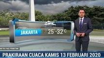 Prakiraan Cuaca Kamis 13 Februari 2020