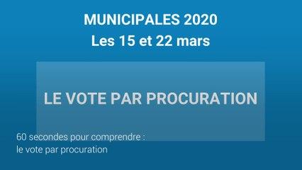 Vote par procuration aux Municipales 2020
