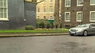 PM arrives back at Downing Street after Parliament meetings