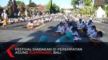 Mengenal Budaya, Ribuan Siswa Ikuti Festival Menulis Aksara Bali
