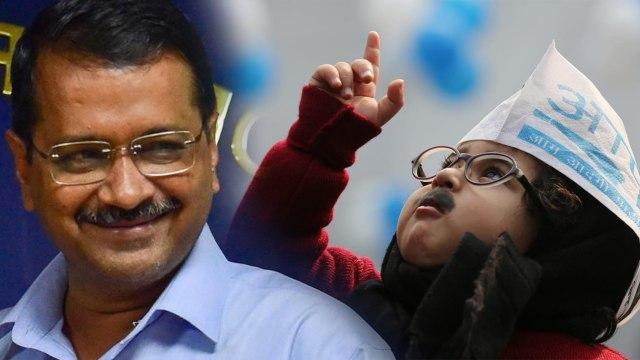 AAP invited Baby Mufflerman  கெஜ்ரிவால் பதவியேற்பு.. குட்டி குழந்தைக்கு அழைப்பு