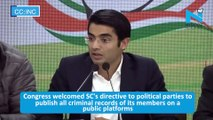 BJP has made a mockery of the SC's judgement on decriminalisation of politics: Congress