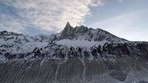 Macron tours France's shrinking glacier