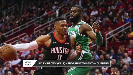 Jaylen Brown Probable (Calf) vs. Clippers Thursday Night