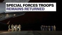 Fallen special forces soldiers arrive back in U.S. | Newsbreak