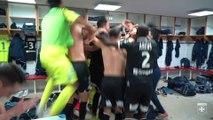 La joie des Auxerrois après la victoire à Ajaccio